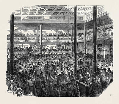 Popular Culture Drawing - Popular Amusements Of Paris Ball At The Barrier by English School