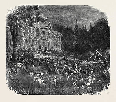 Popular Culture Drawing - Popular Amusements Of Paris The Chateau Of Asnieres by English School