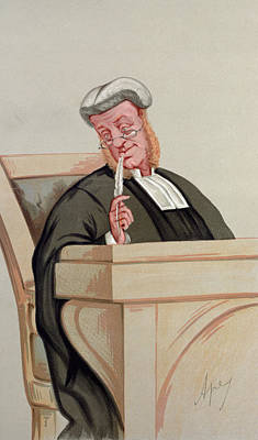 Caricature Portraits Photograph - Popular Judgement, From Vanity Fair, 1st January 1876 Colour Litho by Carlo Pellegrini