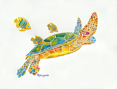 Painting - Popular Sea Turtle by Jo Lynch