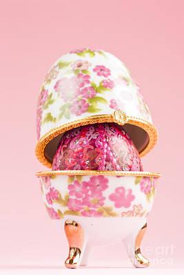 Porcelain Egg Decoration Print by Mythja  Photography