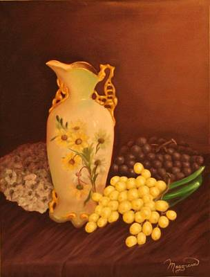 Gold-filled Painting - Porcelain Vase by Lou Magoncia