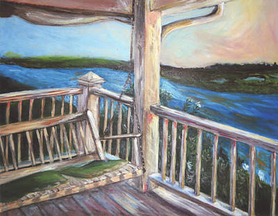 Swing Painting - Porch by Anne Seay