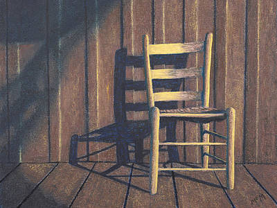 Painting - Porch Chair Pastel by Garry McMichael