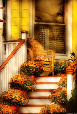 Photograph - Porch - In The Light Of Autumn by Mike Savad