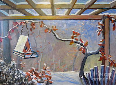 Painting - Porch In Winter by Gretchen Allen