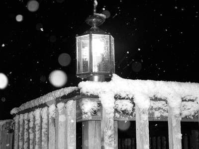 Photograph - Porch Light Bw by Nelson Watkins