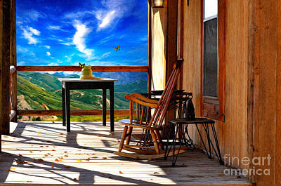 Photograph - Porch - Mountain Memories And Solitude by Liane Wright