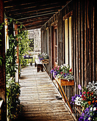 Photograph - Porch Of An Old Country Store by Lincoln Rogers