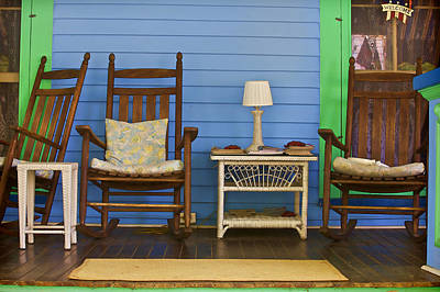Rocking Chairs Photograph - Porch Of Cape May by David Letts