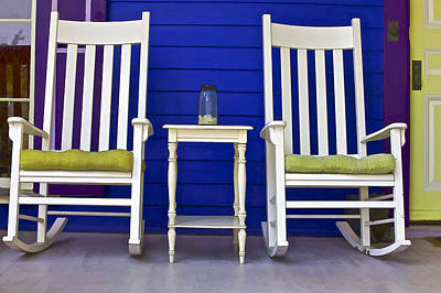 Rocking Chairs Photograph - Porch Of Cape May II by David Letts