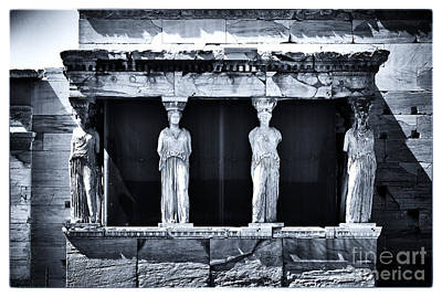 Greek School Of Art Photograph - Porch Of The Caryatids by John Rizzuto