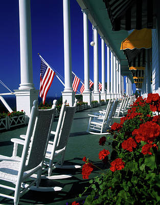 Grand Hotels Photograph - Porch Of The Grand Hotel, Mackinac by Panoramic Images