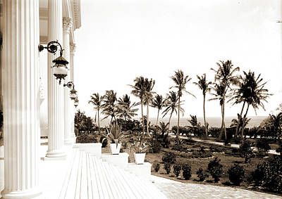 Miami Drawing - Porch Of The Hotel Royal Palm I.e by Litz Collection
