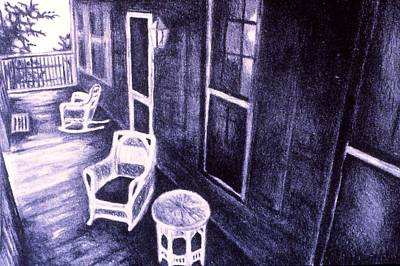 Drawing - Porch Original by Kendall Kessler