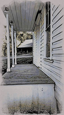 Painting - Porch - Plunkett House by Bonnie Bruno