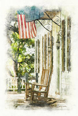 Porch Rocker At The Kaminski House Art Print