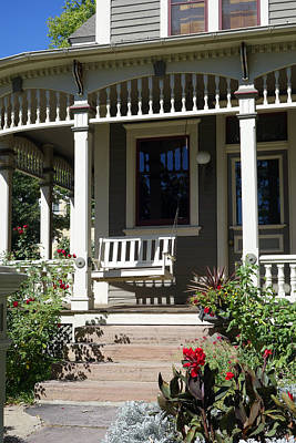 Photograph - Porch Swing Victorian Style by Ann Powell