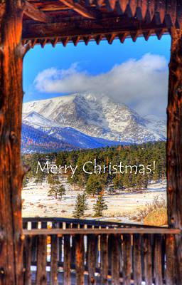 Photograph - Porch View Christmas 4166 by Jerry Sodorff