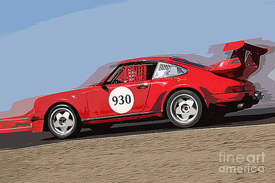 Porche Photograph - Porche No 930 by Tom Griffithe