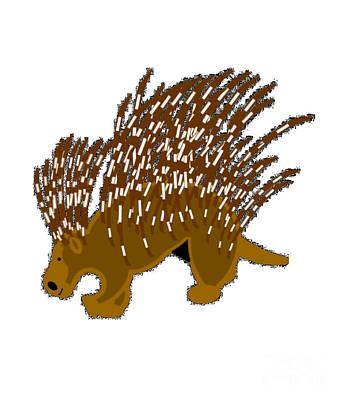 Porcupine Digital Art - Porcupine by Frederick Holiday