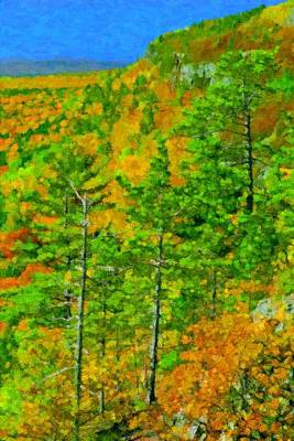 Porcupine Digital Art - Porcupine Mountains Scenic by Pat Now