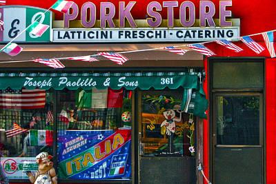 Italian Deli Photograph - Pork Store by Mitch Cat