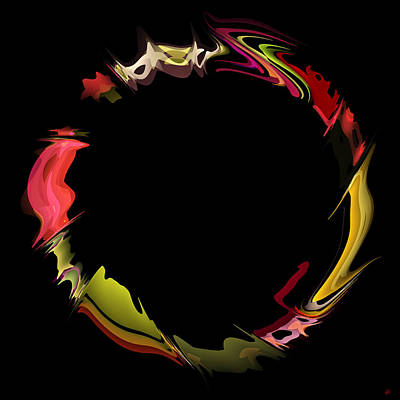Rorschach Digital Art - Porous Circle by Daniel Hagerman