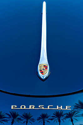 Vehicle Photograph - Porsche 1600 Super Hood Emblem by Jill Reger