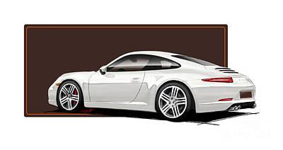 Porsche 911 991 Carrera Art Print by Reinhold FineArt