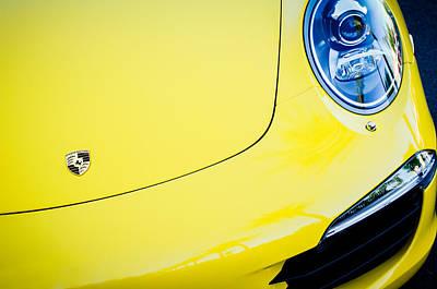 Hood Emblem Photograph - Porsche 911 Carrera S Hood Emblem -0031c by Jill Reger
