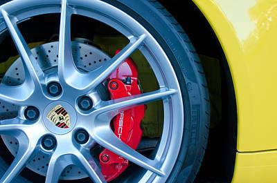 Photograph - Porsche 911 Carrera S Wheel Emblem by Jill Reger