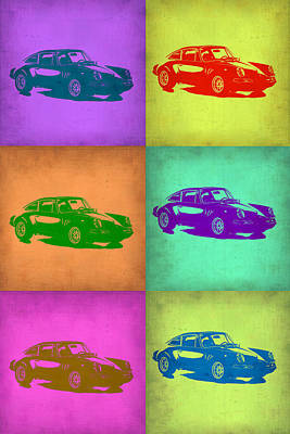 Old Cars Painting - Porsche 911 Pop Art 2 by Naxart Studio