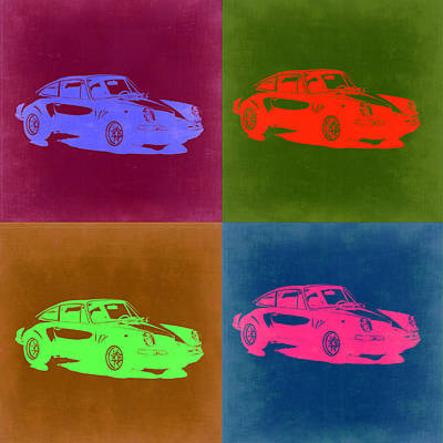 Old Cars Painting - Porsche 911 Pop Art 3 by Naxart Studio