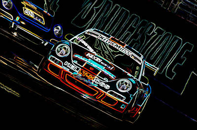 Porsche 911 Racing Art Print by Sebastian Musial