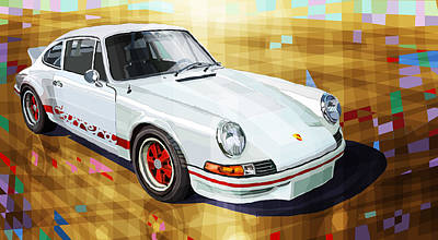 Sports Digital Art - Porsche 911 Rs by Yuriy Shevchuk