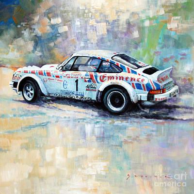 Automotive Painting - Porsche 911 Sc  Rallye Sanremo 1981 by Yuriy Shevchuk