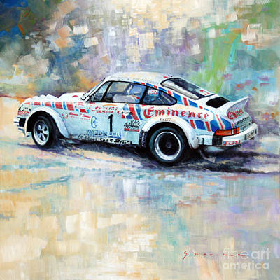 Classic Car Painting - Porsche 911 Sc  Rallye Sanremo 1981 by Yuriy Shevchuk