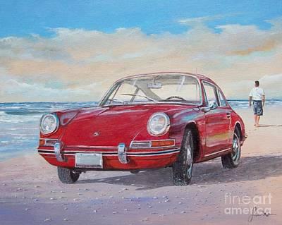 Painting - 1967 Porsche 912 by Sinisa Saratlic