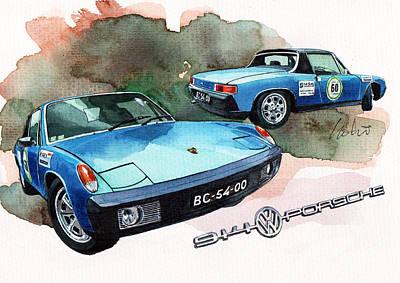 Porsche 914 Print by Yoshiharu Miyakawa