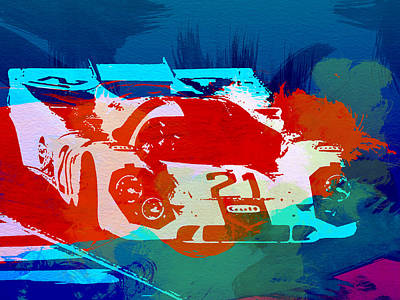 Vintage Cars Painting - Porsche 917 Racing 1 by Naxart Studio