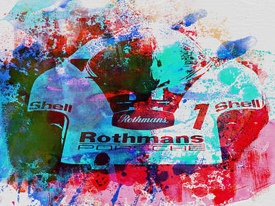 Old Car Painting - Porsche 917 Rothmans 2 by Naxart Studio