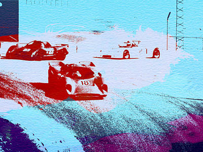 Old Cars Painting - Porsche 917 Watercolor by Naxart Studio