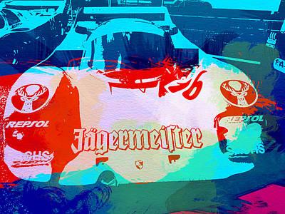American Car Painting - Porsche 956 Jagermeister by Naxart Studio