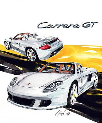 Porsche Carrera Painting - Porsche Carrera Gt by Yoshiharu Miyakawa