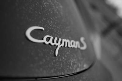 Standing Porsche Cayman S Art Print