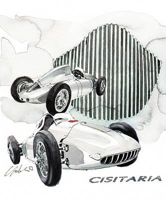 360 Wall Art - Painting - Porsche Typ 360 Cisitalia by Yoshiharu Miyakawa