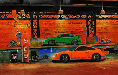 Porsche Depot Art Print by Alan Greene