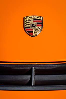 Photograph - Porsche Emblem -0671c by Jill Reger