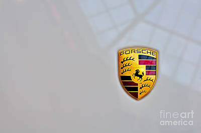 Photograph - Porsche Emblem by Andres LaBrada